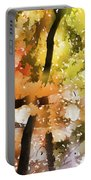 Autumn Trees In The Fog Portable Battery Charger