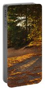Autumn Trees Near Lake Portable Battery Charger
