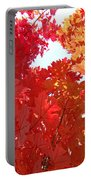 Autumn Trees Red Orange Fall Trees Art Baslee Troutman Portable Battery Charger