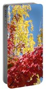 Autumn Trees Red Yellow Fall Tree Blue Sky Landsape Portable Battery Charger