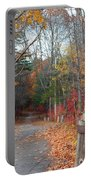 Autumn Walk At West Thompson Lake  Portable Battery Charger