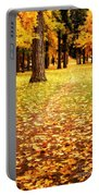 Autumn Walk In Spokane Portable Battery Charger
