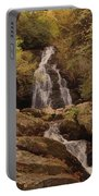 Autumn Waterfall In The Great Smoky Mountains Portable Battery Charger