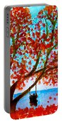 Together In Autumn  Portable Battery Charger
