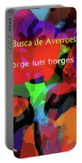 Averroes's Search Borges Poster Portable Battery Charger