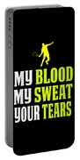 Awesome Tennis Design My Blood Your Tears B Portable Battery Charger