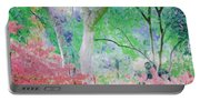 Azalea Flowers And Tree Coral  Portable Battery Charger