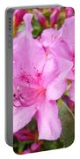 Azalea Garden Art Prints Pink Azaleas Flowers Baslee Troutman Portable Battery Charger