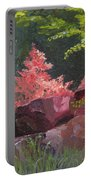Azaleas - Sun And Shadow Portable Battery Charger