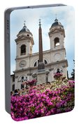 Azaleas On The Spanish Steps In Rome Portable Battery Charger