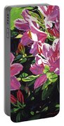 Azaleas With Dew Drop Portable Battery Charger