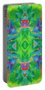 Aztec Kaleidoscope - Pattern 001 Portable Battery Charger