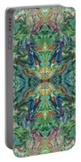 Aztec Kaleidoscope - Pattern 018 - Earth Portable Battery Charger
