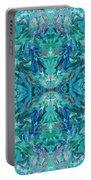 Aztec Kaleidoscope - Pattern 018 - Ocean Portable Battery Charger
