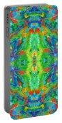 Aztec Kaleidoscope - Pattern 025 Portable Battery Charger