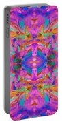 Aztec Kaleidoscope - Pattern 040 Portable Battery Charger