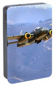 B25 Mitchell Flyby At Salinas Portable Battery Charger