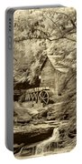 Babcock State Park Wv - Sepia Portable Battery Charger