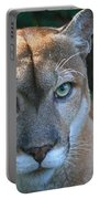 Babcock Wilderness Ranch - Oceola The Panther Pleasantly Peering Portable Battery Charger