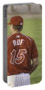 Babe Ruf Portable Battery Charger by Trish Tritz