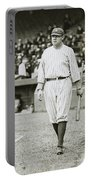 Babe Ruth Going To Bat Portable Battery Charger