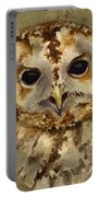 Baby Barred Owl Portable Battery Charger