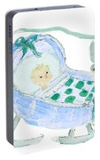 Baby Boy With Bunny And Birds Portable Battery Charger