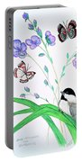 Baby Chickadee And Butterflies Portable Battery Charger