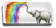 Baby Elephant Spraying Rainbow Portable Battery Charger