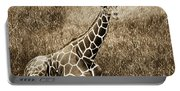 Baby Giraffe In Grasses Portable Battery Charger