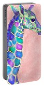 Baby Giraffe Pink And Purple Portable Battery Charger