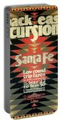 Back East Xcursions - Santa Fe, Mexico - Indian Detour - Retro Travel Poster - Vintage Poster Portable Battery Charger