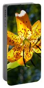 Back-lit Yellow Tiger Lily Portable Battery Charger