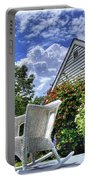 Back Porch In Summer Portable Battery Charger