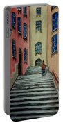 Back Street In France Portable Battery Charger