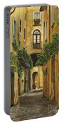 Back Street In Italy Portable Battery Charger by Charlotte Blanchard