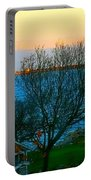 Backyard View In Autumn Portable Battery Charger
