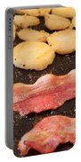 Bacon And Potatoes On A Griddle Portable Battery Charger