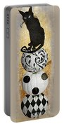 Bad Cat Halloween Portable Battery Charger