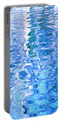 Baffling Blue Water Portable Battery Charger