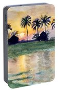 Bahama Palm Trees Portable Battery Charger