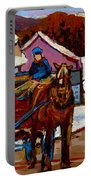 Baie Saint Paul Quebec Country Scene Portable Battery Charger