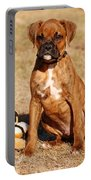 Bailey The Boxer Puppy Portable Battery Charger