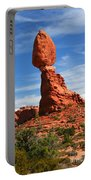 Balanced Rock In Arches National Park, Moab, Utah Portable Battery Charger