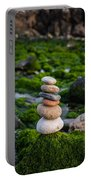 Balancing Zen Stones By The Sea II Portable Battery Charger