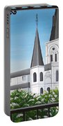 Balcony View Of St Louis Cathedral Portable Battery Charger