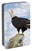 Bald Eagle Art - Speak Your Voice Portable Battery Charger