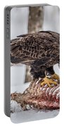 Bald Eagle At The Buffet Portable Battery Charger