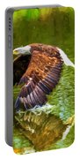 Bald Eagle Cutting The Water Portable Battery Charger
