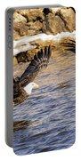 Bald Eagle Fishing Pano Portable Battery Charger